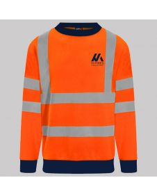 Personalised Hi Vis Sweatshirt