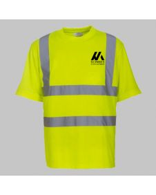 Personalised Yellow Hi Vis T Shirt Printing