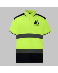 Custom Printed Hi Vis Polo Shirt