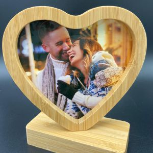 Christmas Wooden Photo Heart