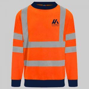 Personalised Hi Vis Sweatshirt