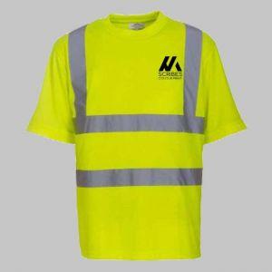 Personalised Yellow Hi Vis T Shirt Printing