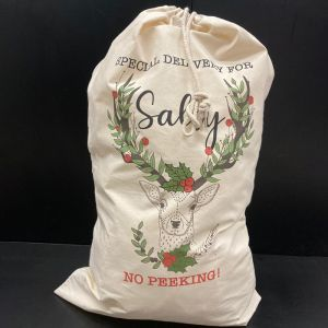 Printed Santa Sacks