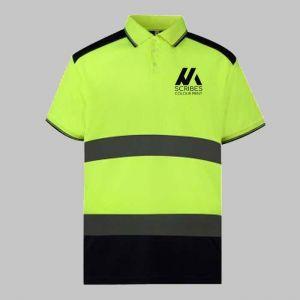 Custom Printed Hi Vis Polo Shirt